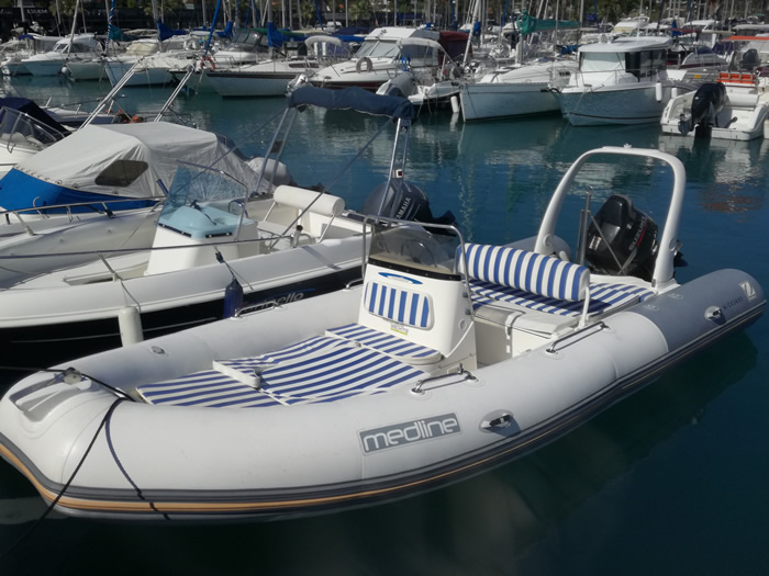 Location de bateau semi rigide Zodiac Medline au départ de Saint-Laurent-du-Var
